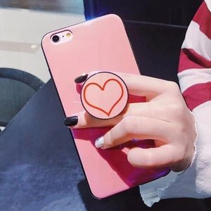 Accessories - LAST ONE iPhone 6+/6S+ Case Pink Heart With Holder